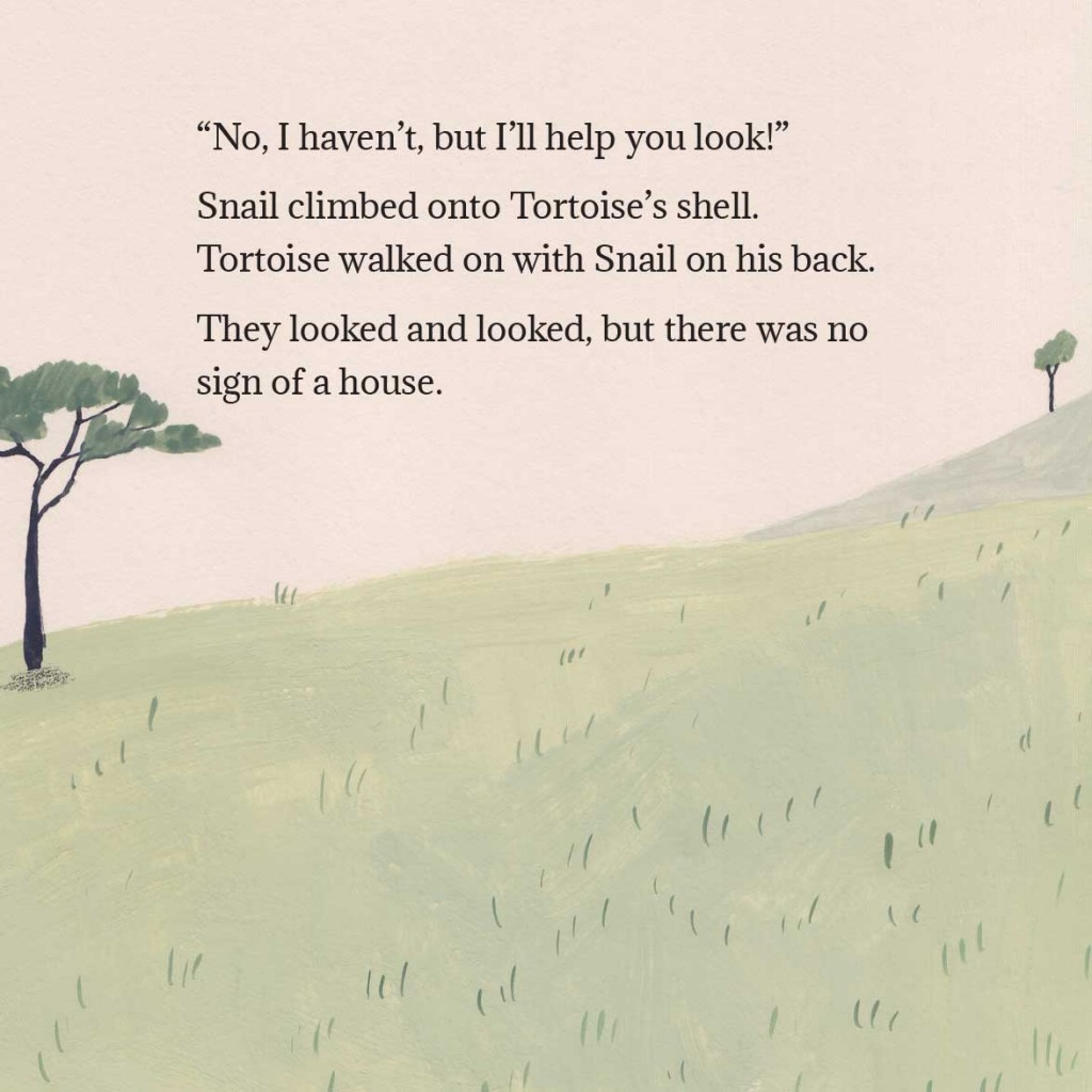 Book page 3 from short story for kids Tortoise Finds His Home by Book Dash