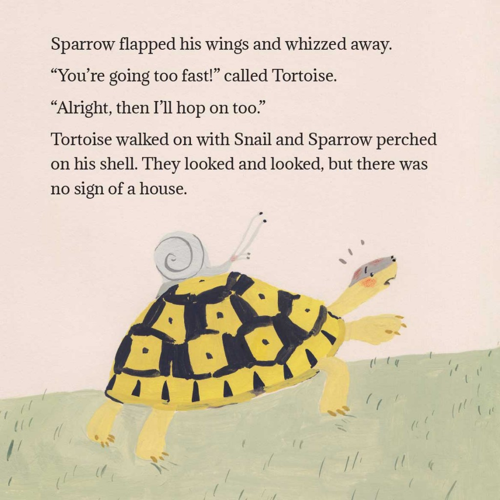 Book page 7 from short story for kids Tortoise Finds His Home by Book Dash