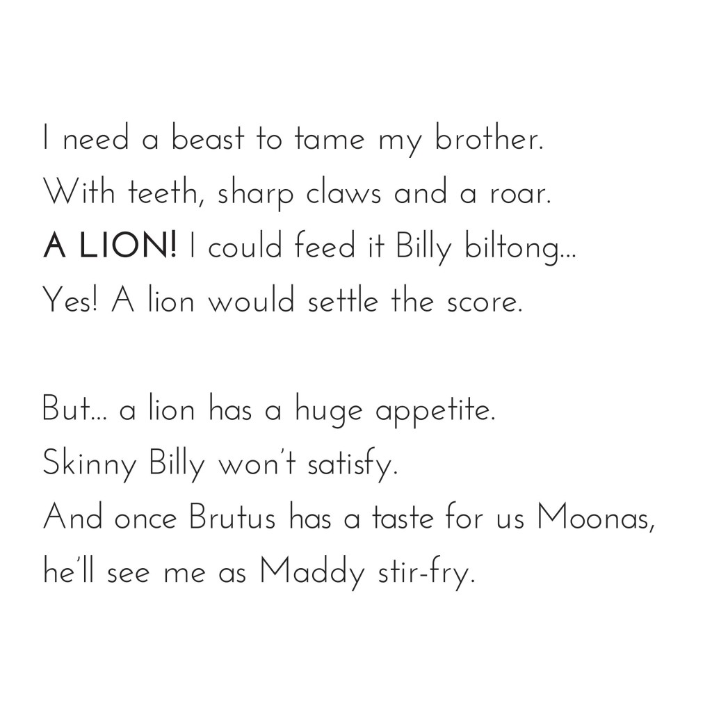 Book page 13 from short story for kids Maddy Moona's Menagerie by Book Dash