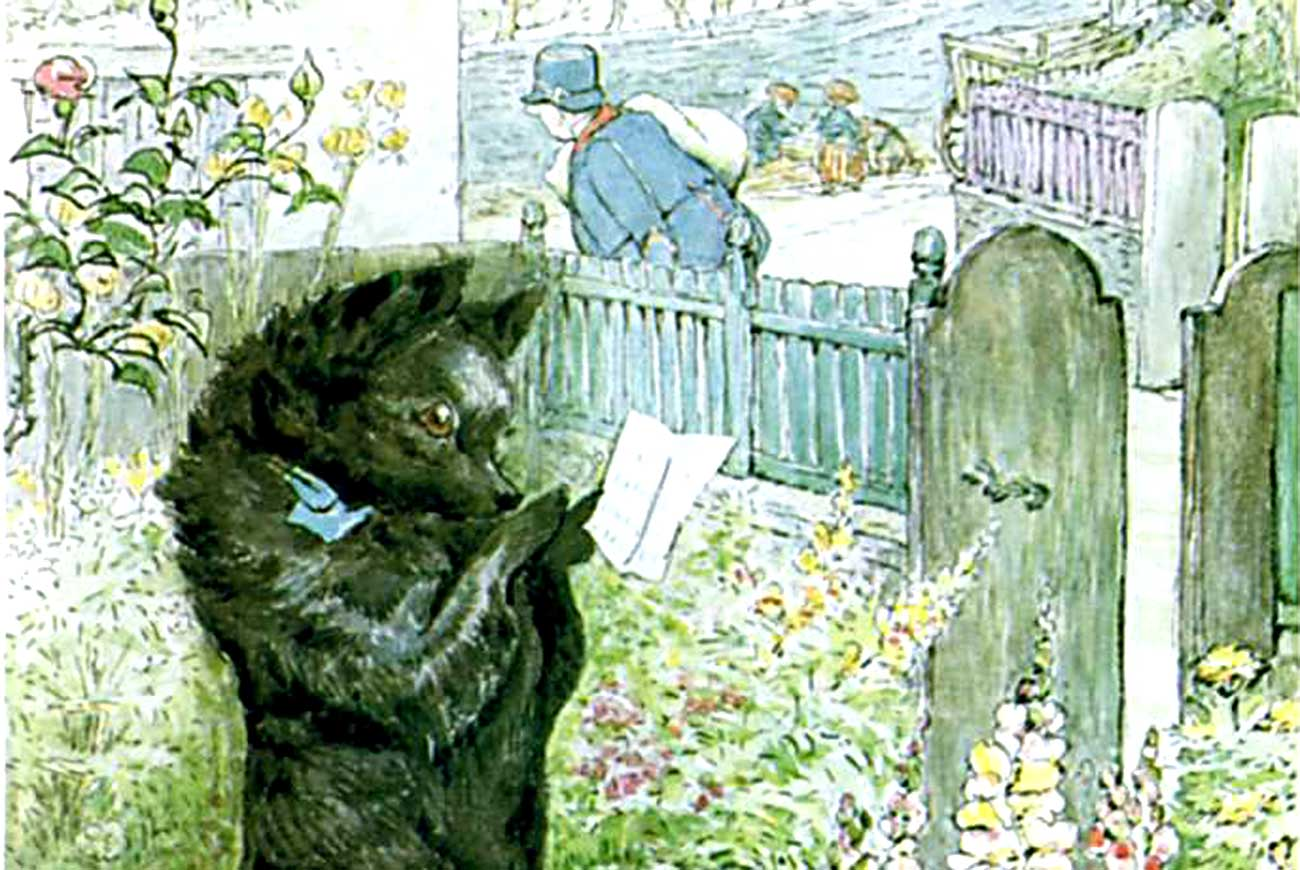 Header illustration by Beatrix Potter for the children's story The Pie and the Patty Can
