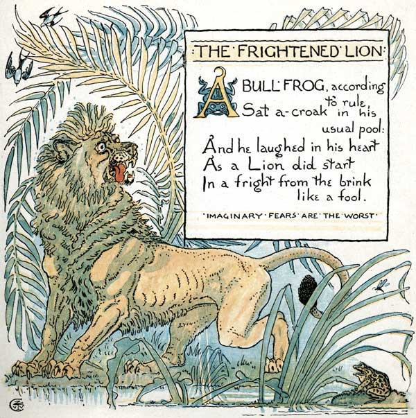 Babys Own Aesop Childrens Fables Frightened Lion