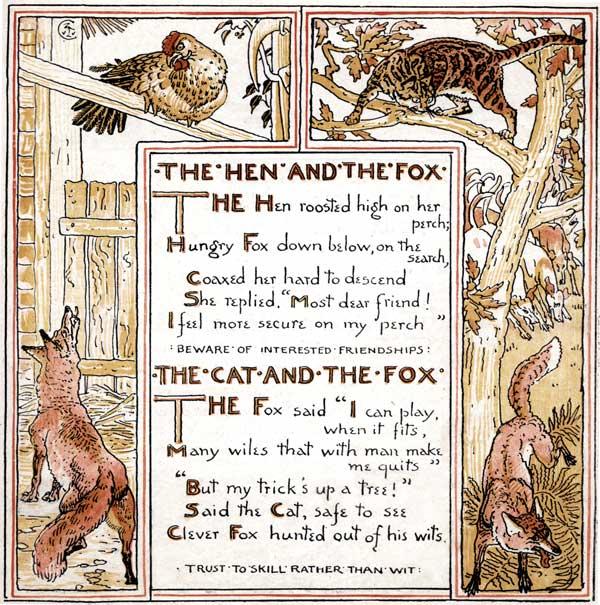 Babys Own Aesop Childrens Fables Hen Fox Cat