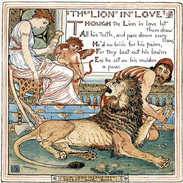 Babys Own Aesop Childrens Fables Lion in Love