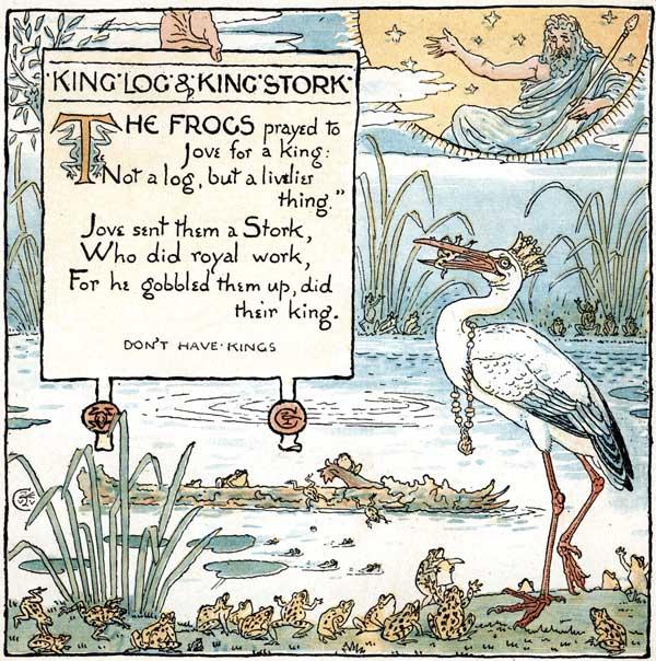 Babys Own Aesop Childrens Fables Log Stork
