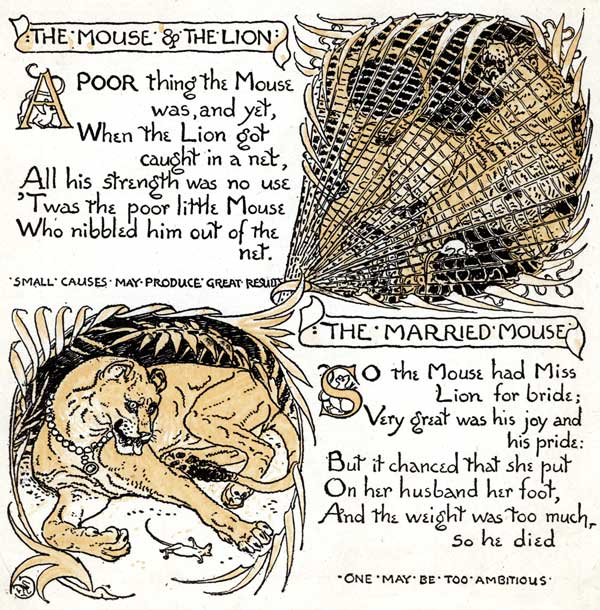 Babys Own Aesop Childrens Fables Mouse Lion