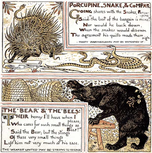 Babys Own Aesop Childrens Fables Porcupine Snake Bear Bees