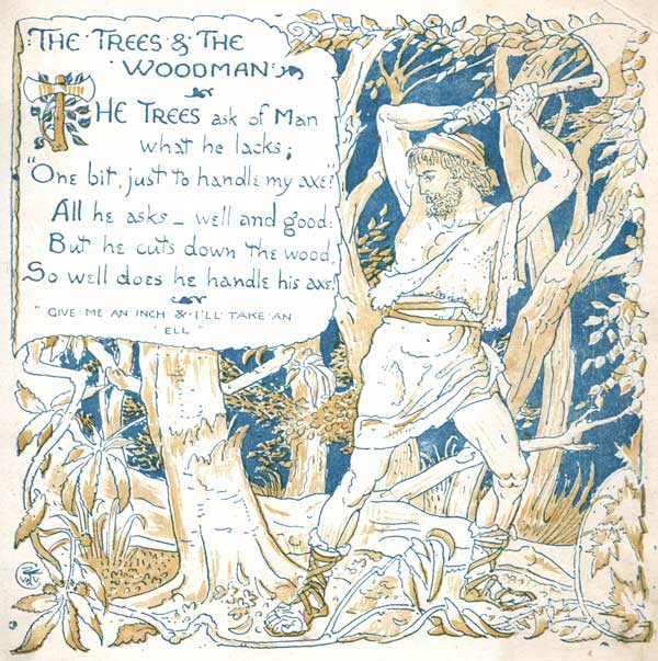 Babys Own Aesop Childrens Fables Trees Woodman