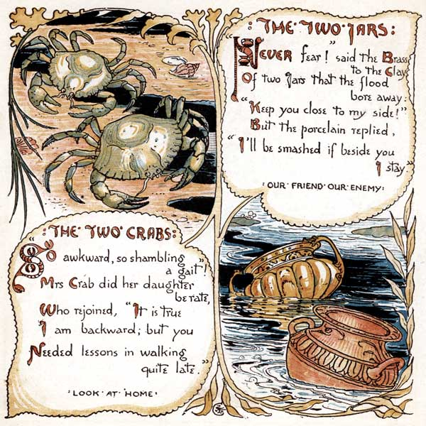 Babys Own Aesop Childrens Fables Two Jars Crabs