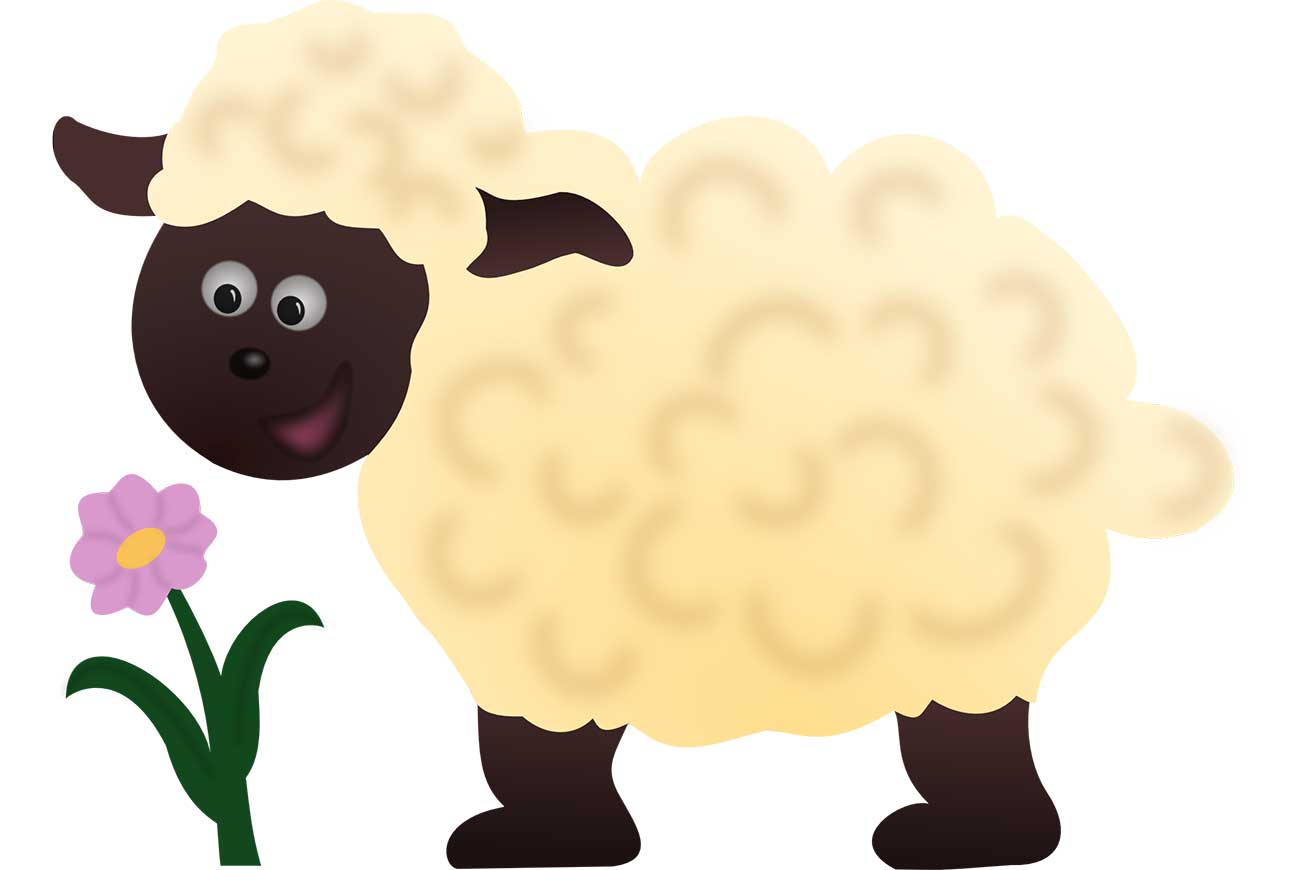 Illustration of lamb for bedtime stores Why The Animals No Longer Fear The Sheep
