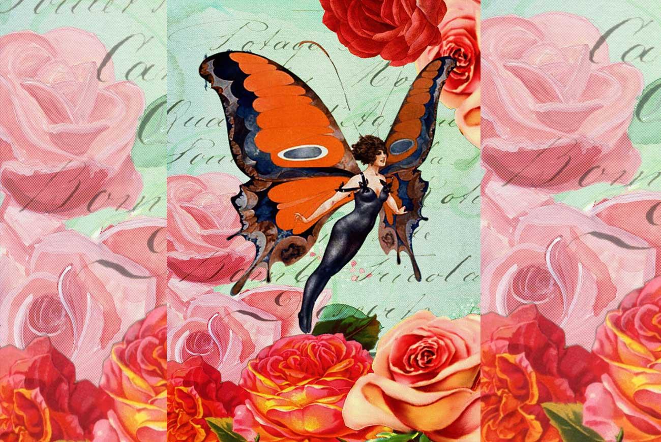 Roses illustration - poems for kids - George Eliot