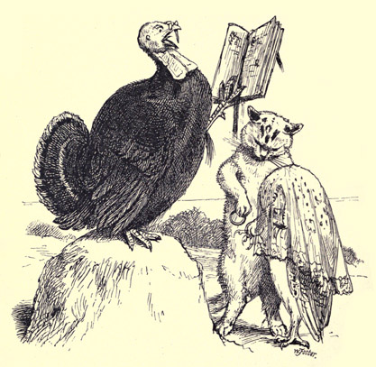 The Owl and The Pussycat vintage illustration - married by the turkey - poems for kids