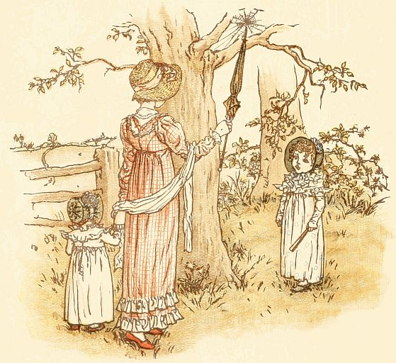 Vintage illustration by Kate Greenaway for The Spider - poems for kids
