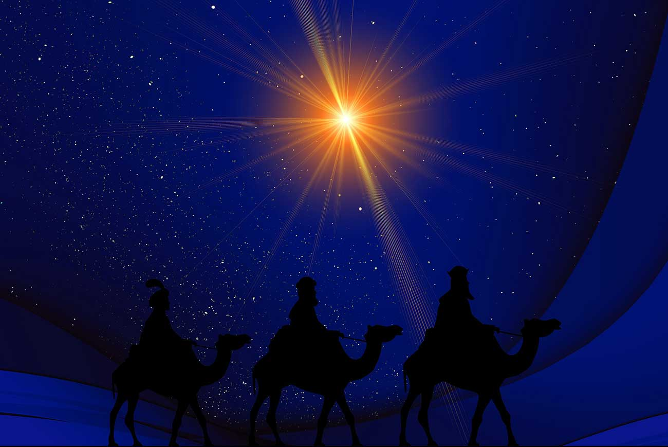 christmas stories illustration of Star of Bethlehem for The Christmas Star