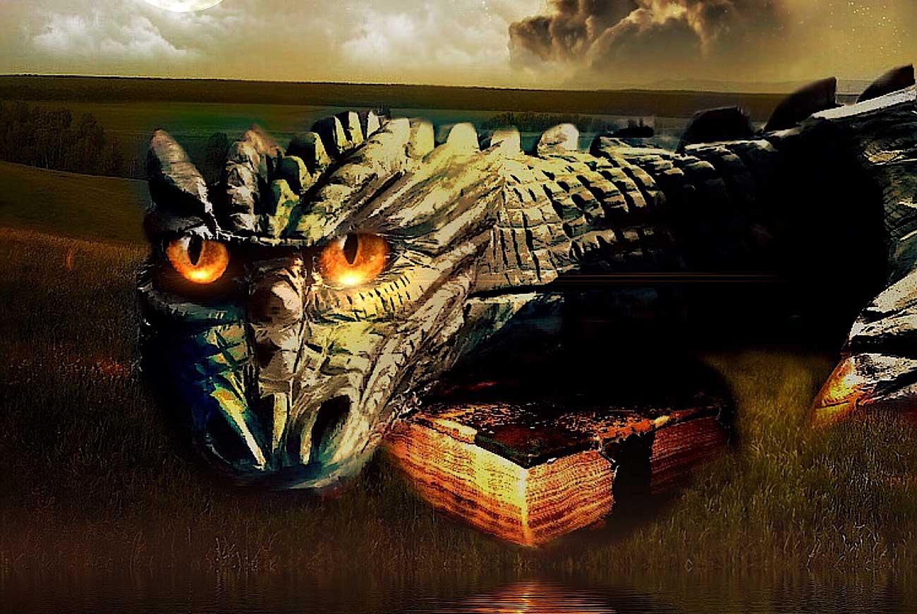 Illustration of dragon for bedtime stories The Dragon's Egg
