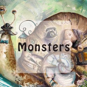 Monster stories for kids button