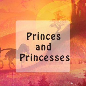 Stories about princes and princesses for kids button