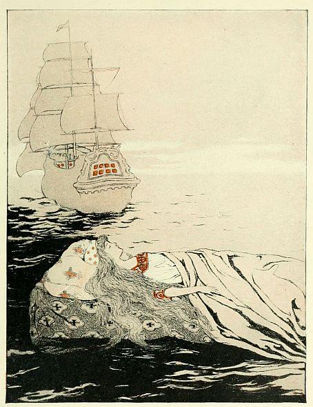 Princess Rosetta bedtime stories illustration by Katharine Pyle