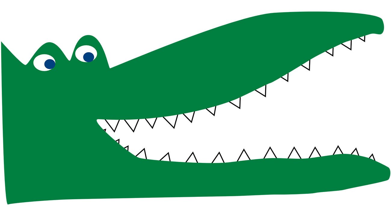 Illustration for Hindu bedtime stories - The Jackal and the Alligator