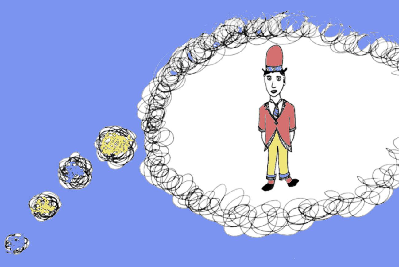 """Illustration for children's motion poem """"Right Now"""""""