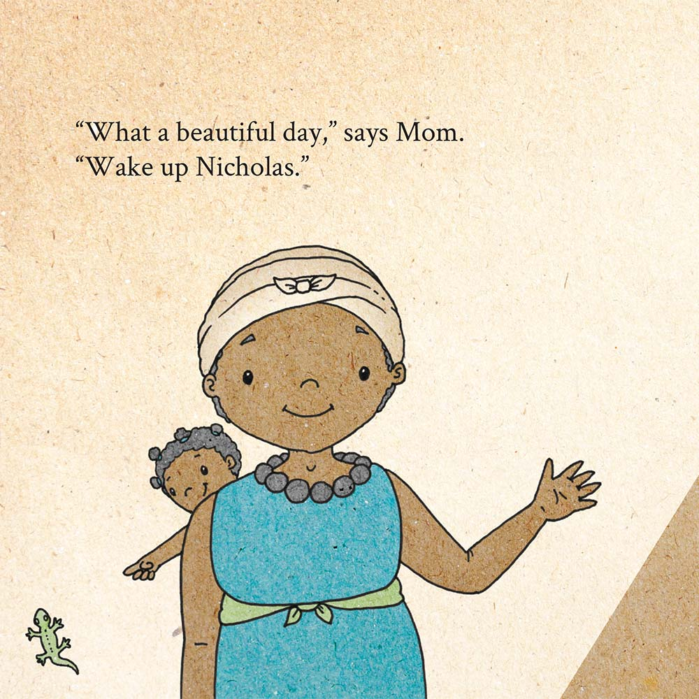Illustration for free children's picture book A Beautiful Day 1