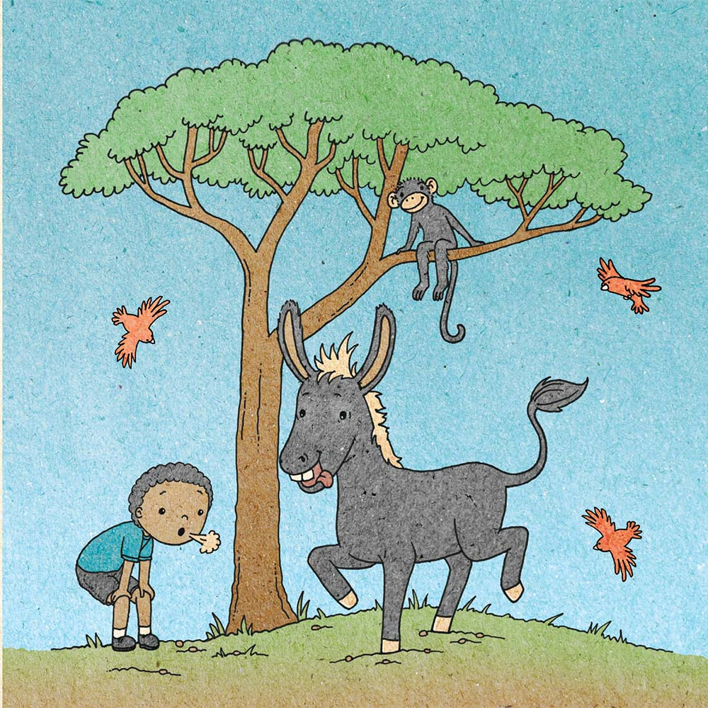 Illustration for free children's picture book A Beautiful Day 12