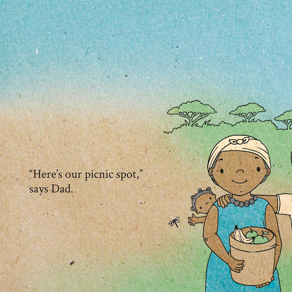 Illustration for free children's picture book A Beautiful Day 15