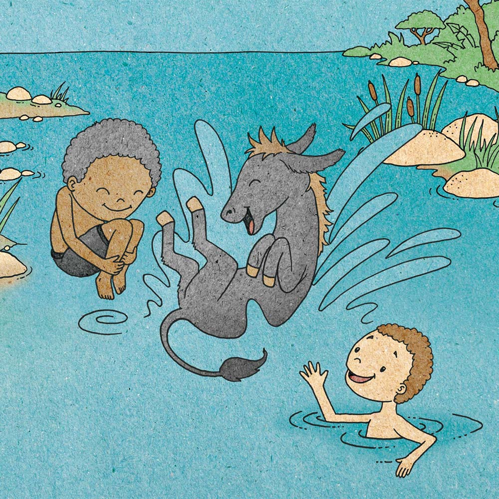 Illustration for free children's picture book A Beautiful Day 18