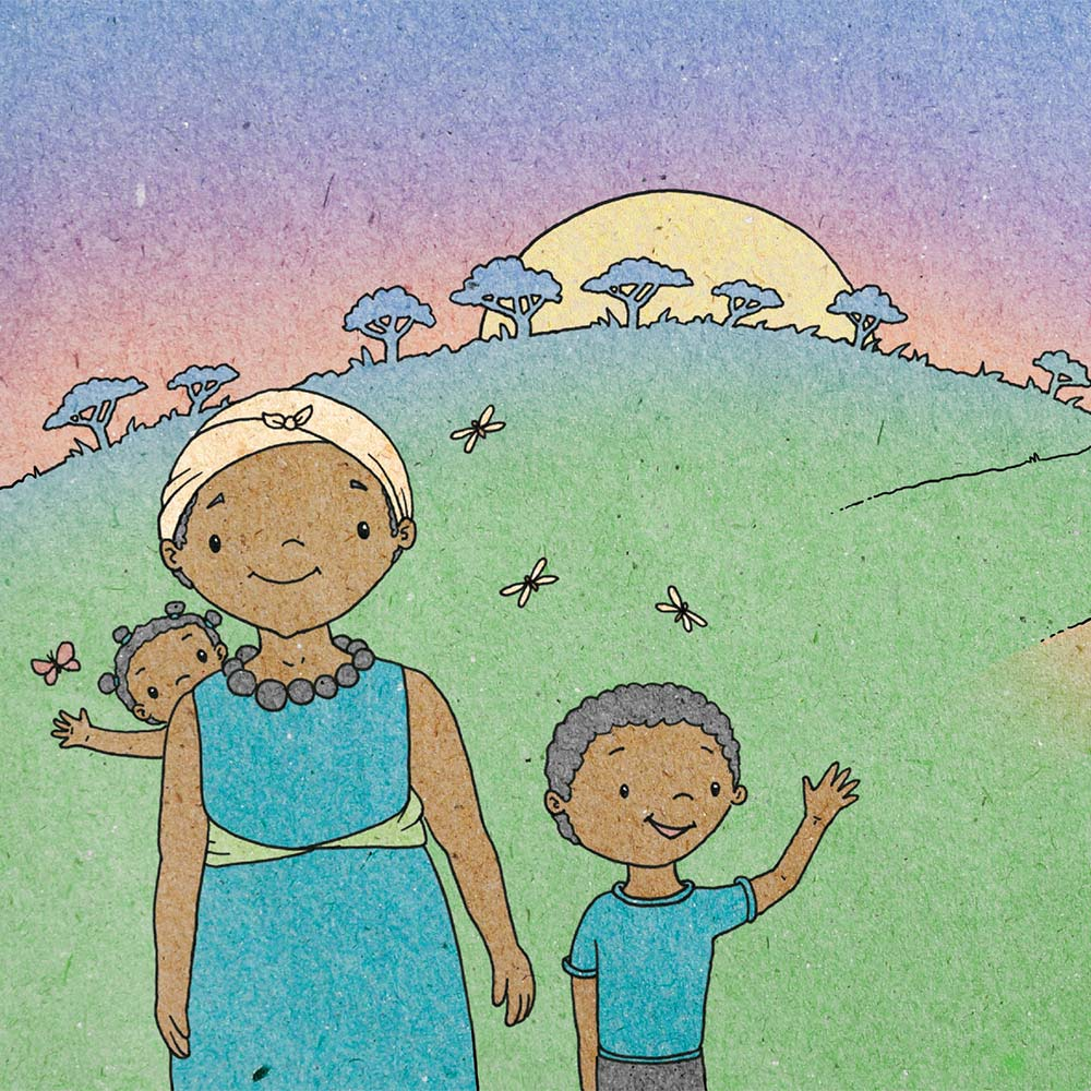 Illustration for free children's picture book A Beautiful Day 21
