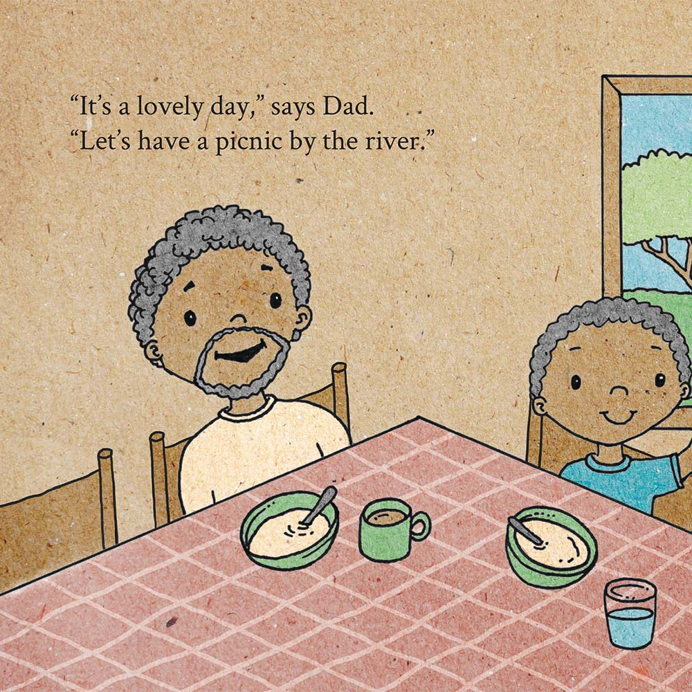 Illustration for free children's picture book A Beautiful Day 3
