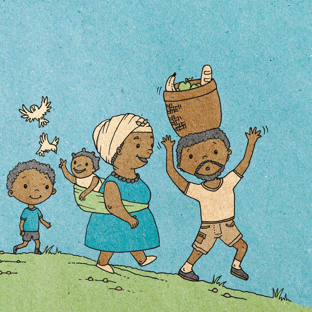 Illustration for free children's picture book A Beautiful Day 8