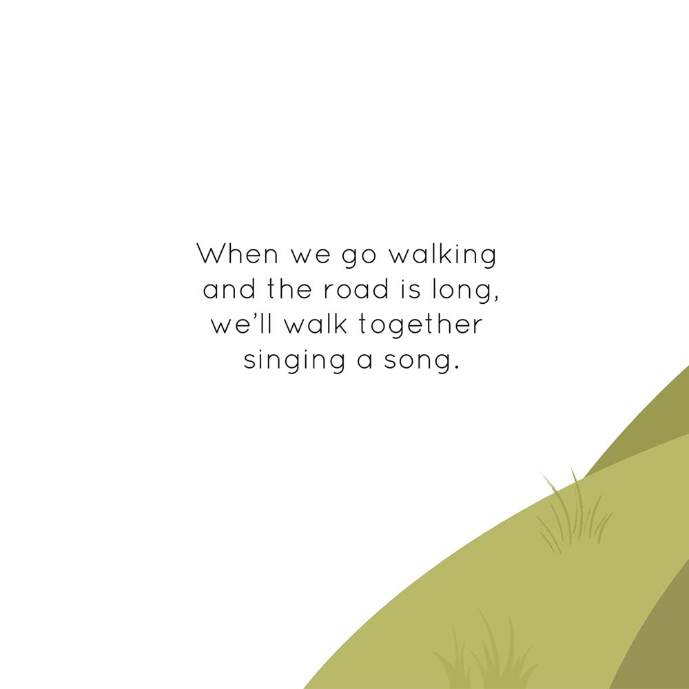 Children's Picture Book Illustration Walking Together - page 1