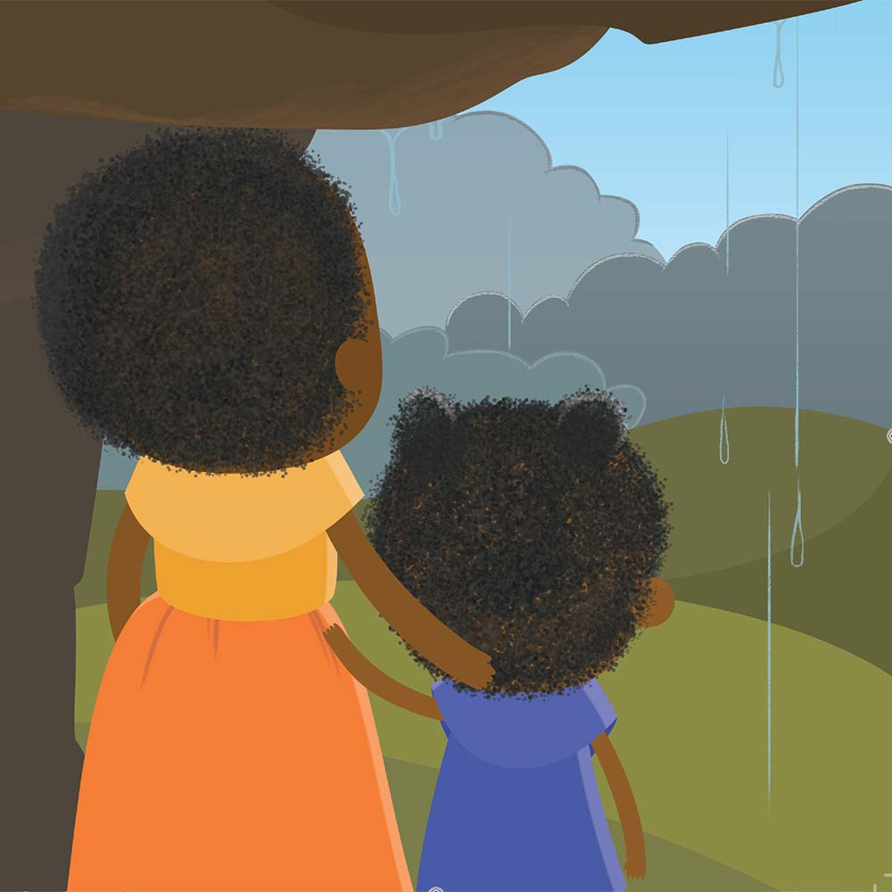 Children's Picture Book Illustration Walking Together - page 10