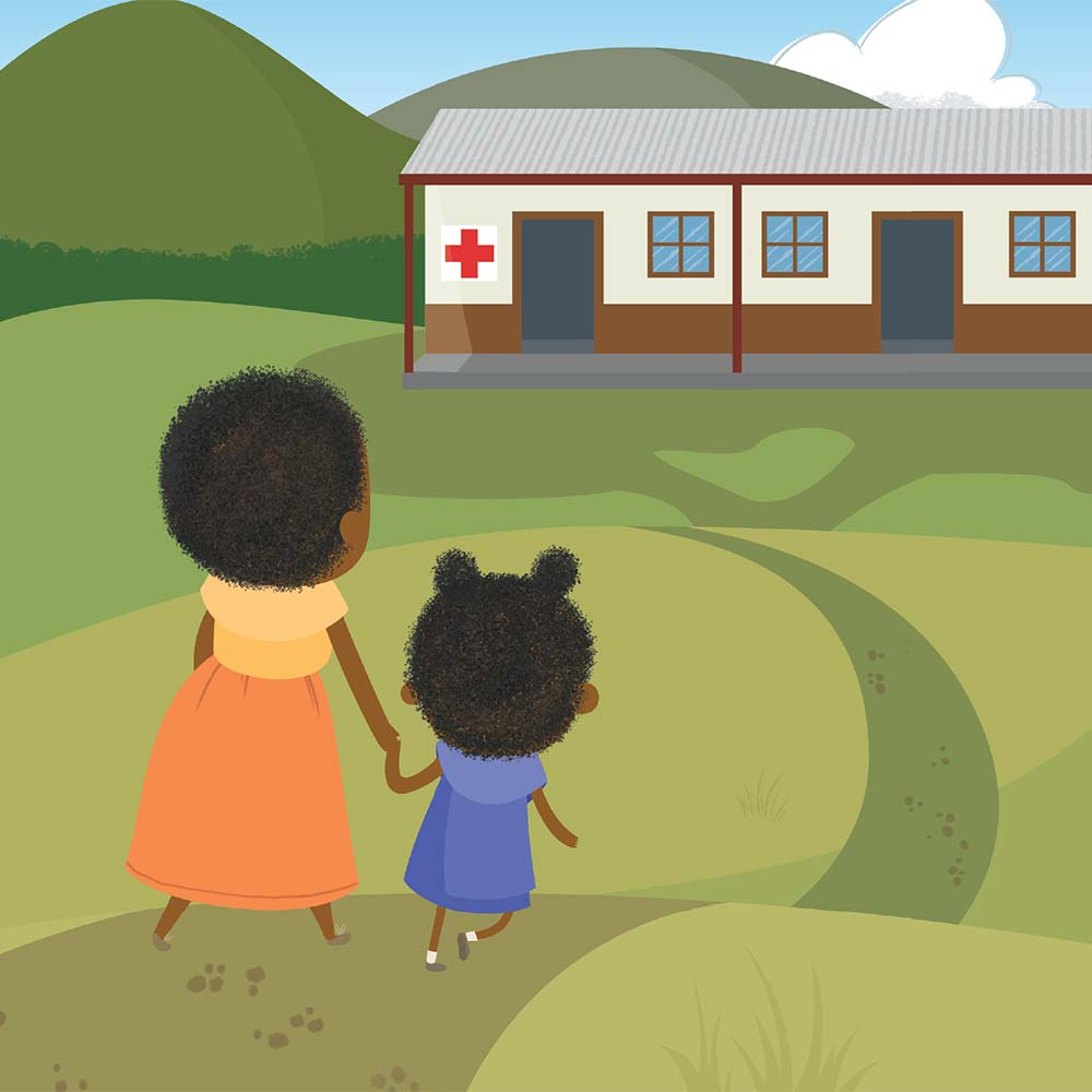 Children's Picture Book Illustration Walking Together - page 16