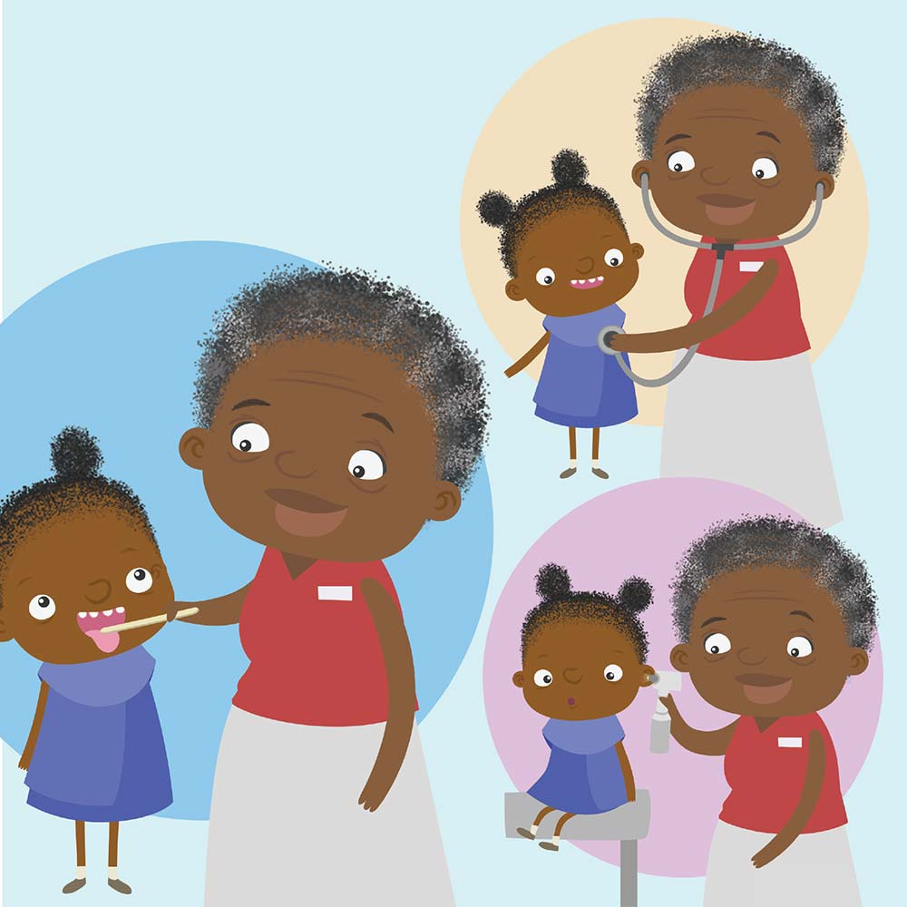 Children's Picture Book Illustration Walking Together - page 18