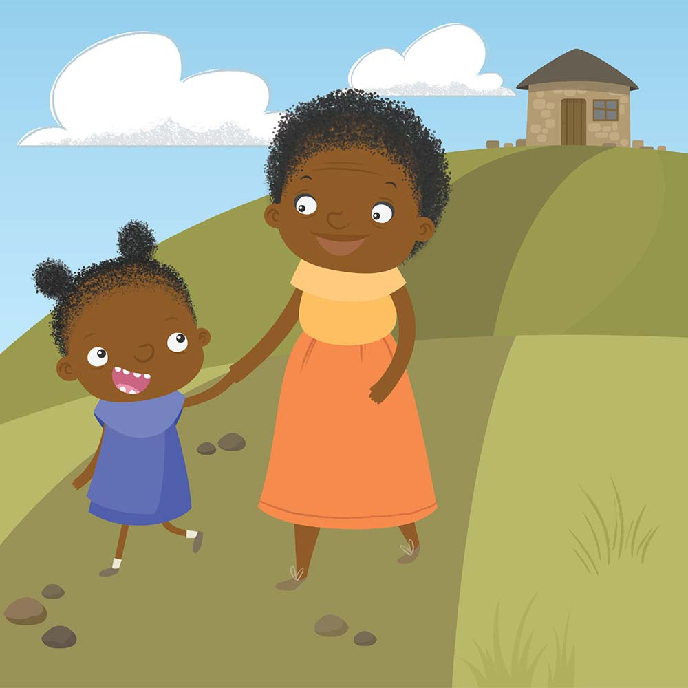 Children's Picture Book Illustration Walking Together - page 2