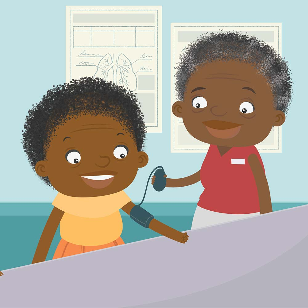Children's Picture Book Illustration Walking Together - page 20