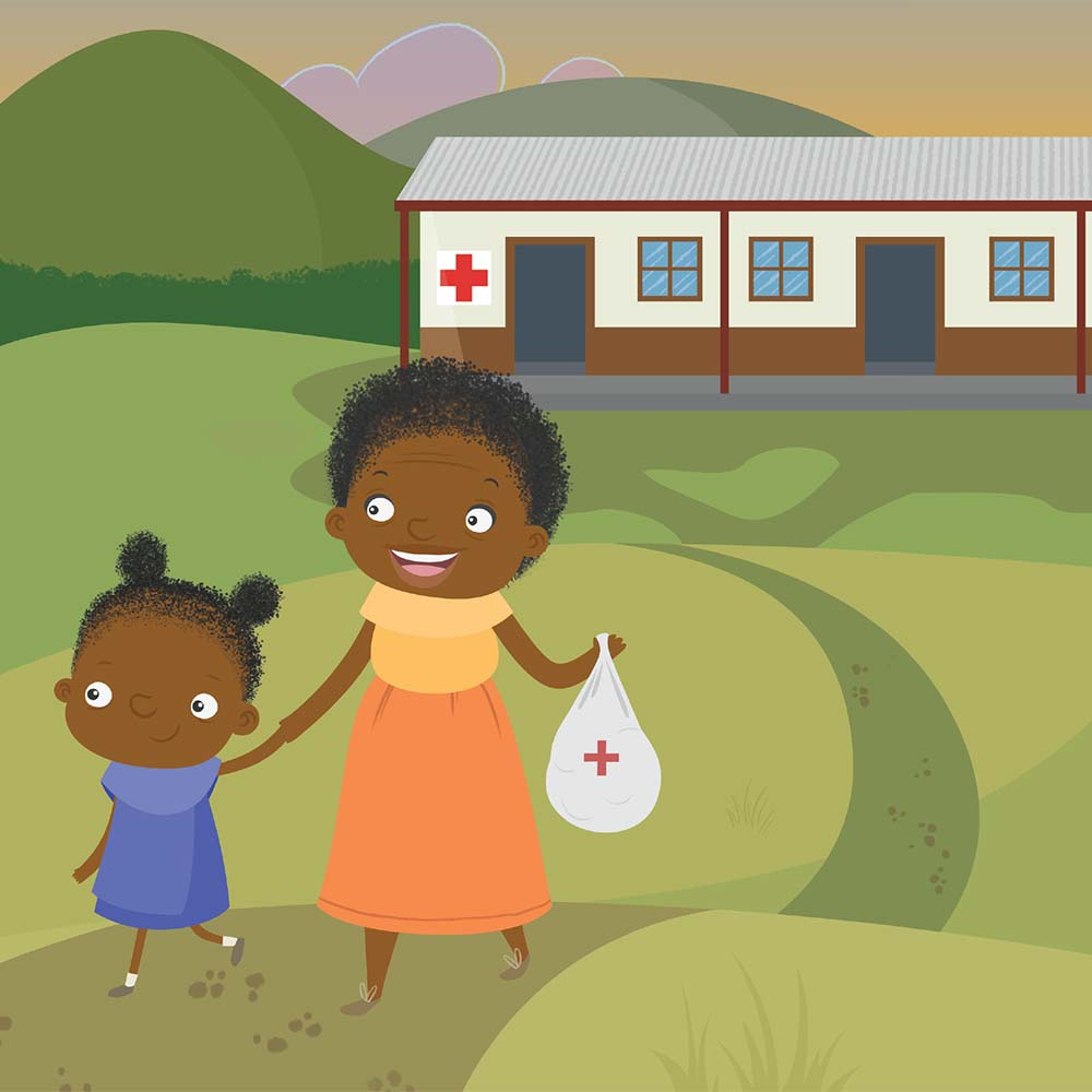 Children's Picture Book Illustration Walking Together - page 22