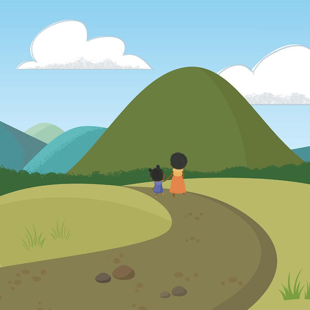 Children's Picture Book Illustration Walking Together - page 4