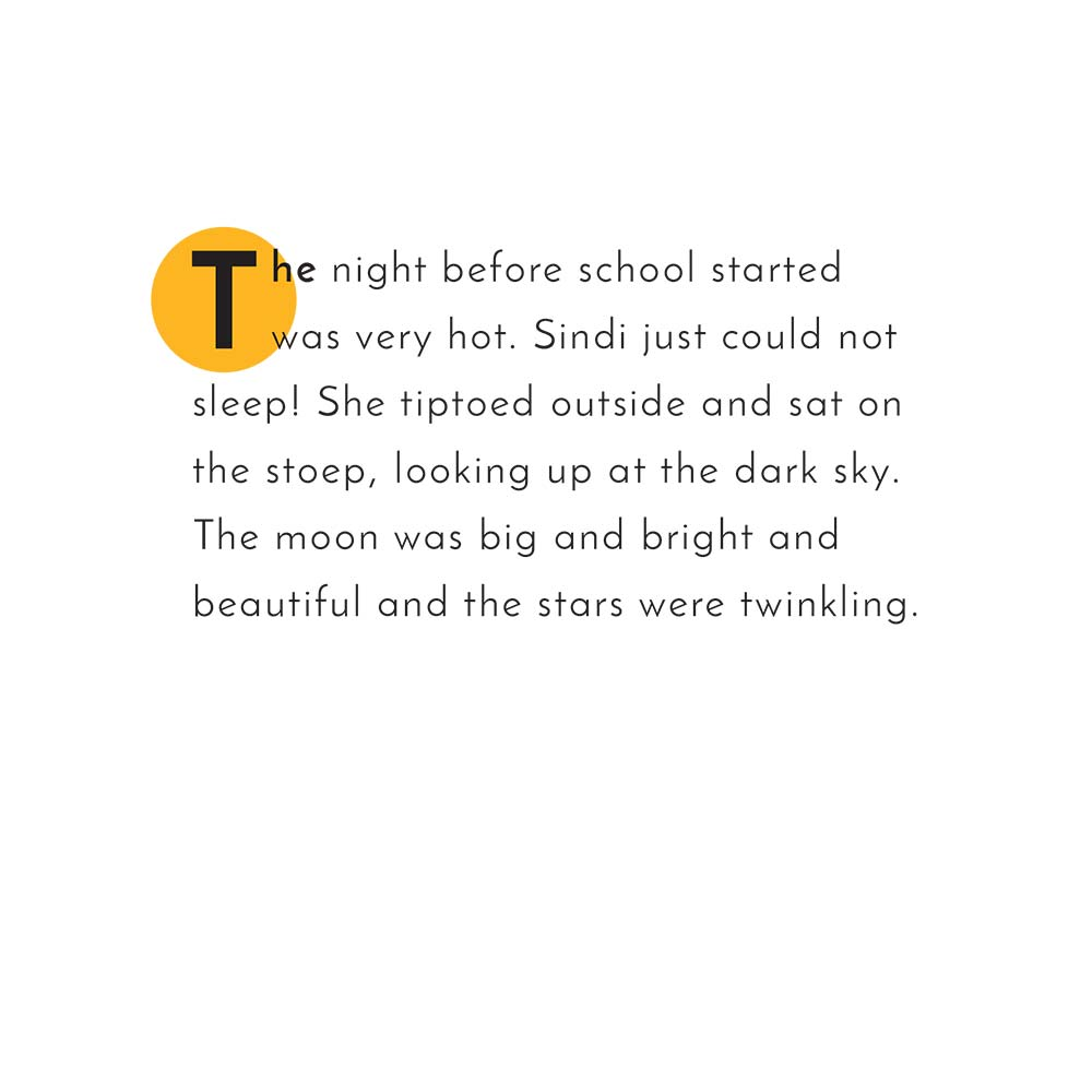 Illustration for free children's picture book Sindi and the Moon 11