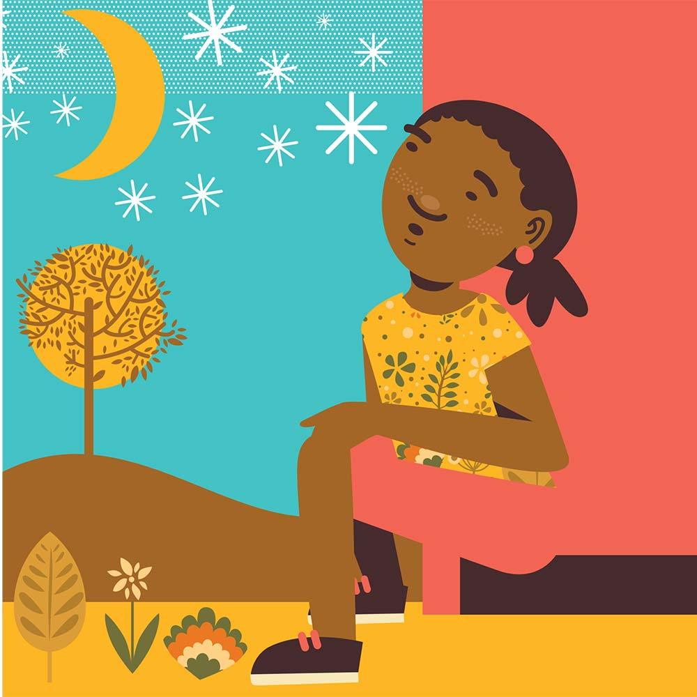 Illustration for free children's picture book Sindi and the Moon 12