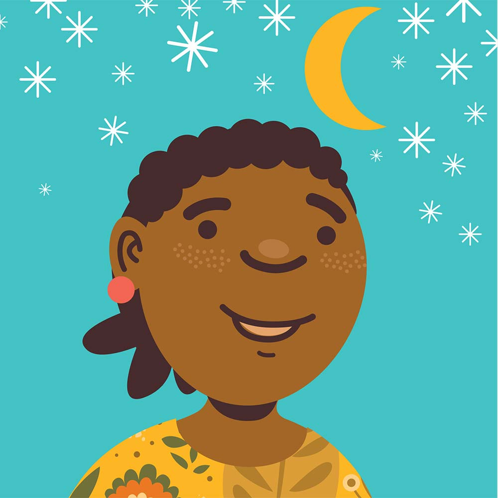Illustration for free children's picture book Sindi and the Moon 13