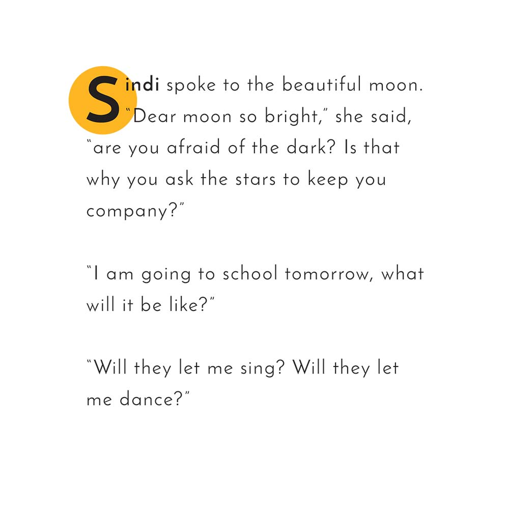 Illustration for free children's picture book Sindi and the Moon 14