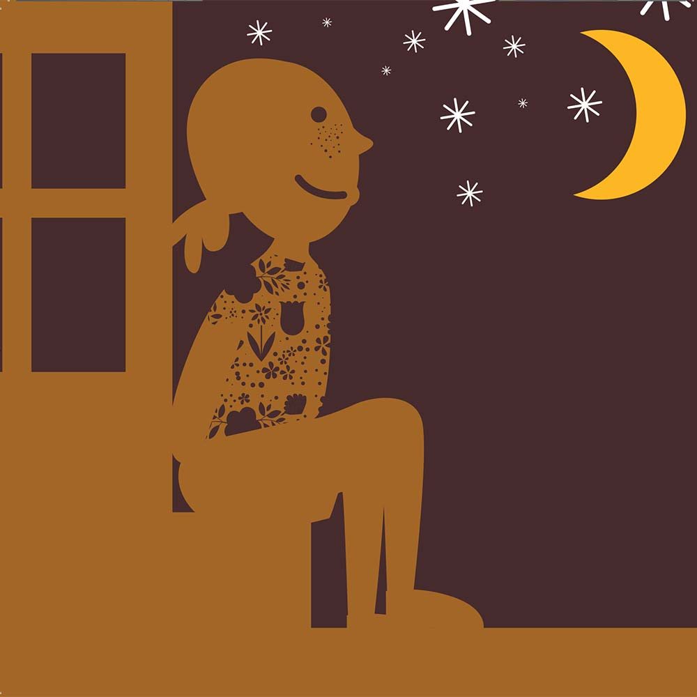 Illustration for free children's picture book Sindi and the Moon 17