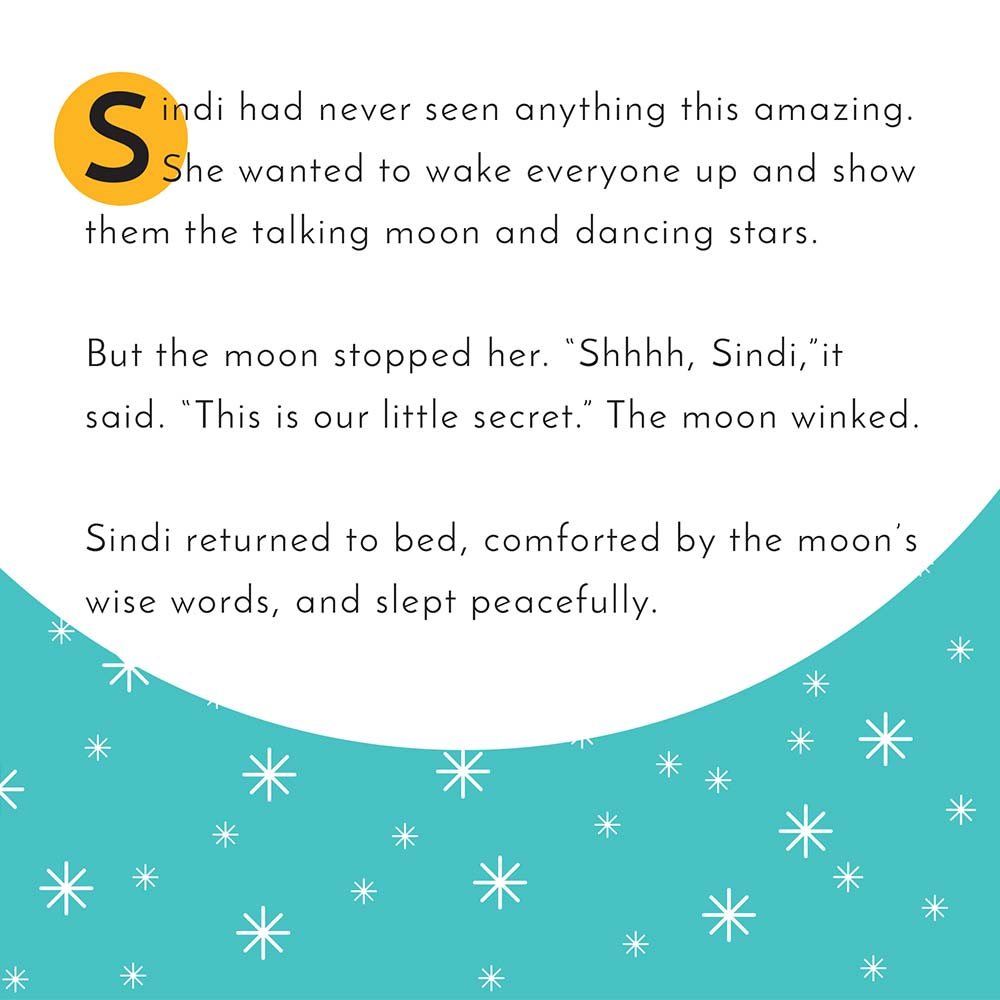 Illustration for free children's picture book Sindi and the Moon 19