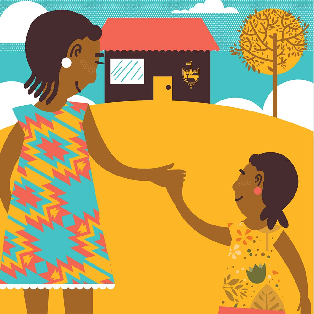 Illustration for free children's picture book Sindi and the Moon 21