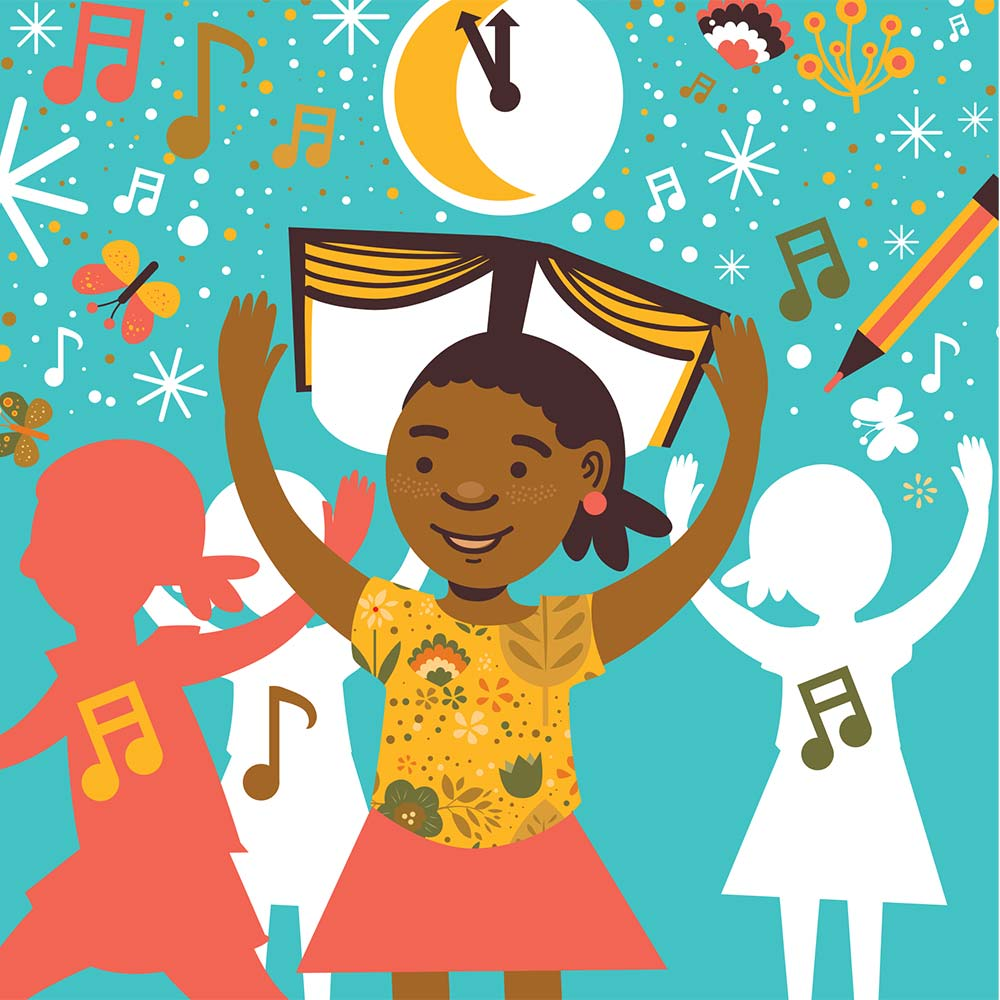 Illustration for free children's picture book Sindi and the Moon 23
