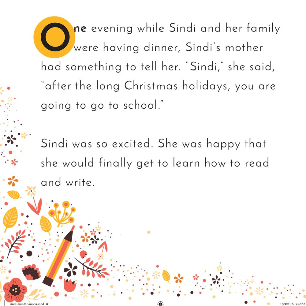 Illustration for free children's picture book Sindi and the Moon 3
