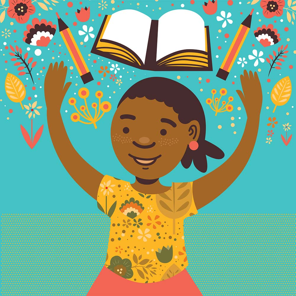 Illustration for free children's picture book Sindi and the Moon 4