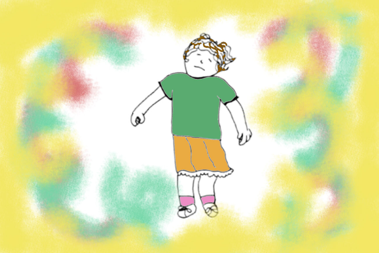 Illustration for kids animated narrated motion poem Spinning