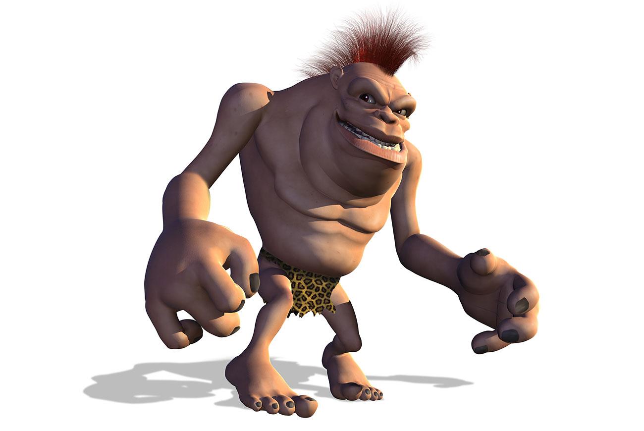 Illustration of ogre for bedtime story Mudgee Monedo